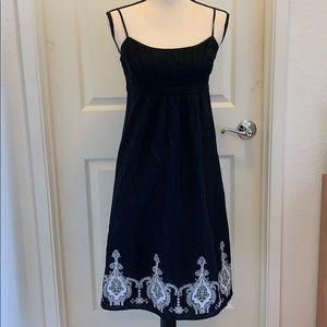 Loft Black Dress w/Embroidery, 6P
